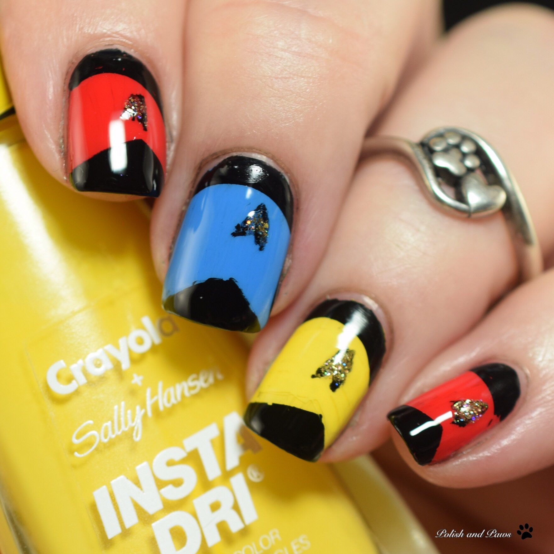 Polish and Paws Star Trek inspired Nail Art