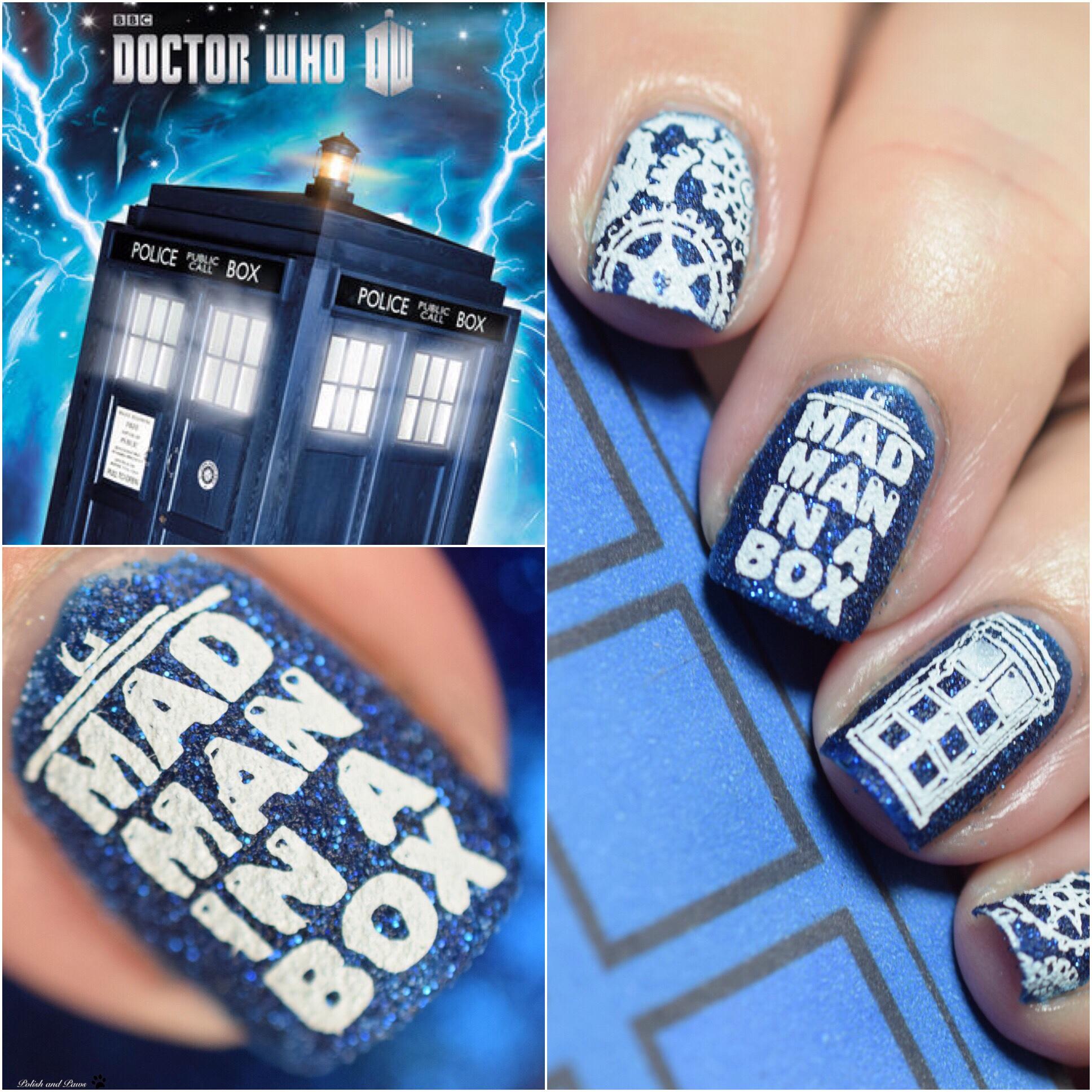 Doctor Who Nails Nail Art