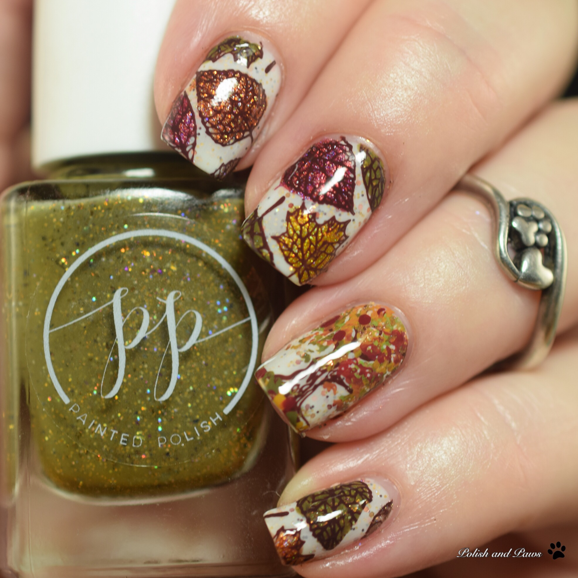 Digital Dozen Polish and Paws Fall Nail Art Manicure