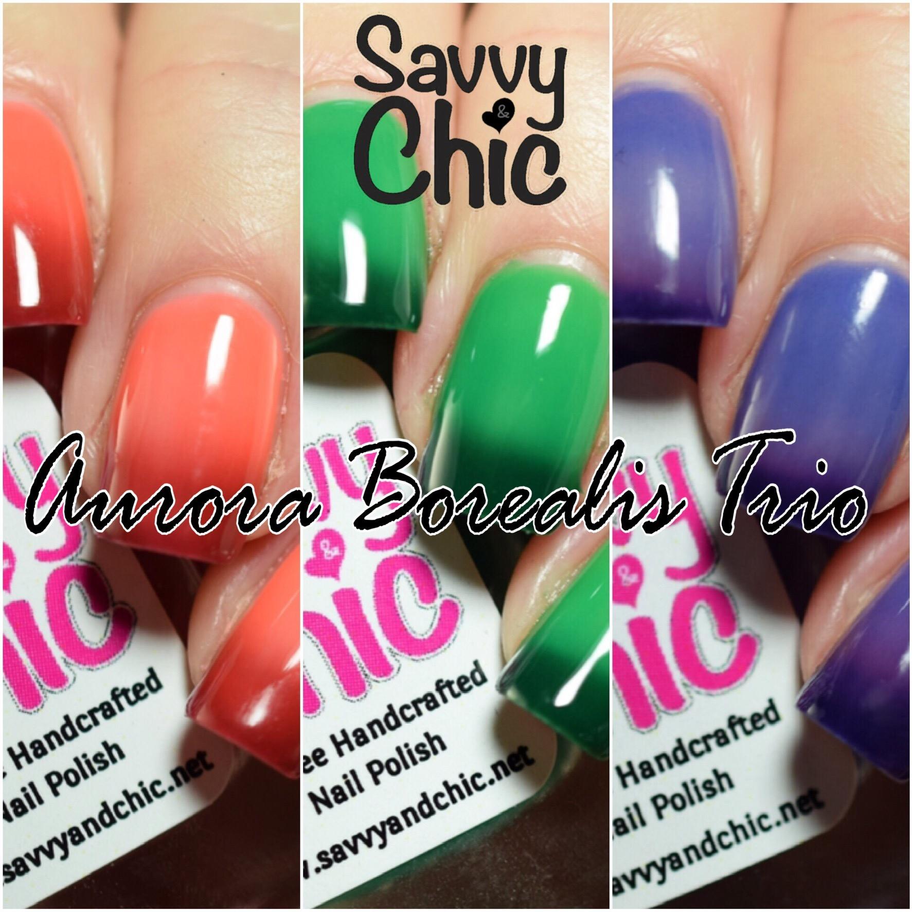 Savvy & Chic Aurora Borealis Trio