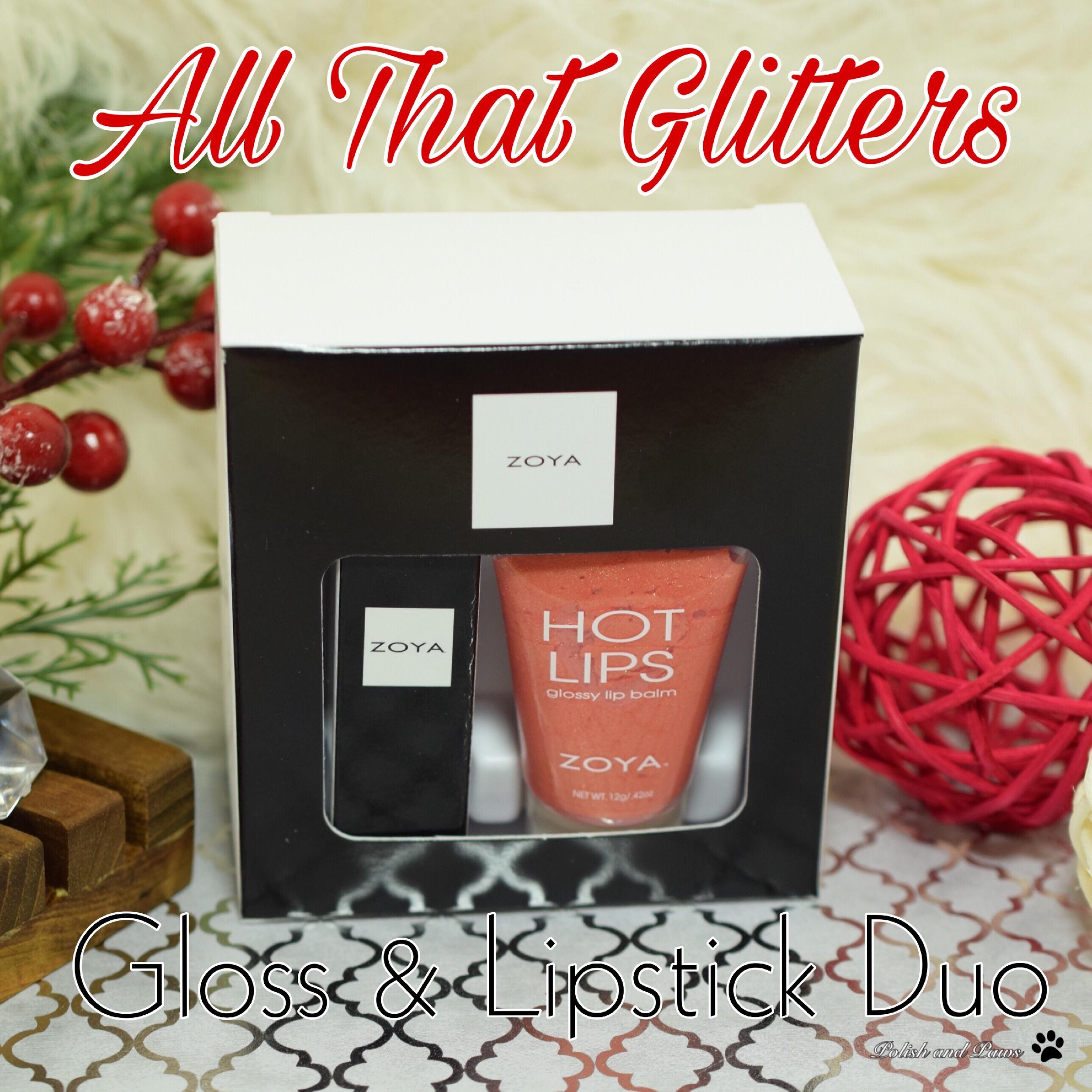 Zoya All That Glitters Gloss & Lipstick Duo
