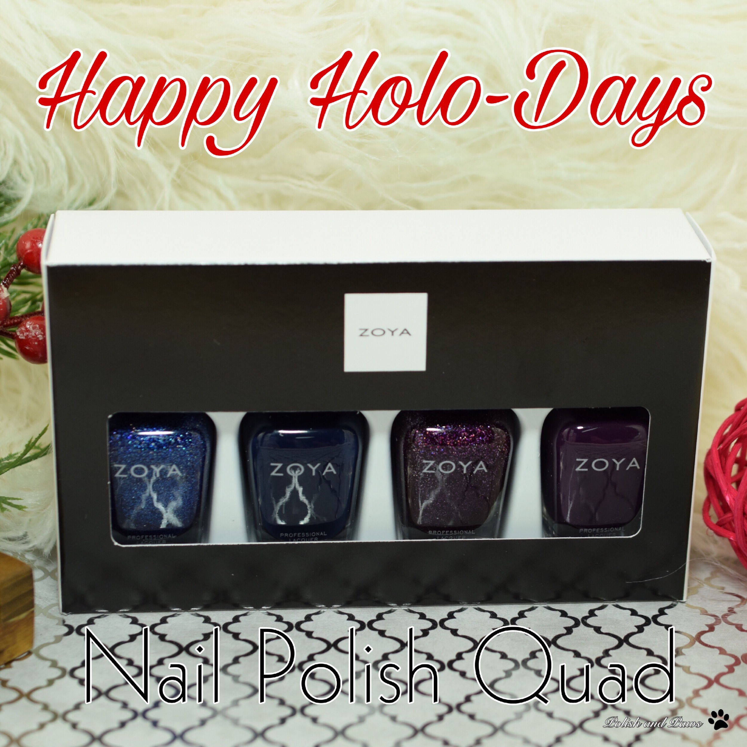 Zoya Happy Holo-Days Nail Polish Quad