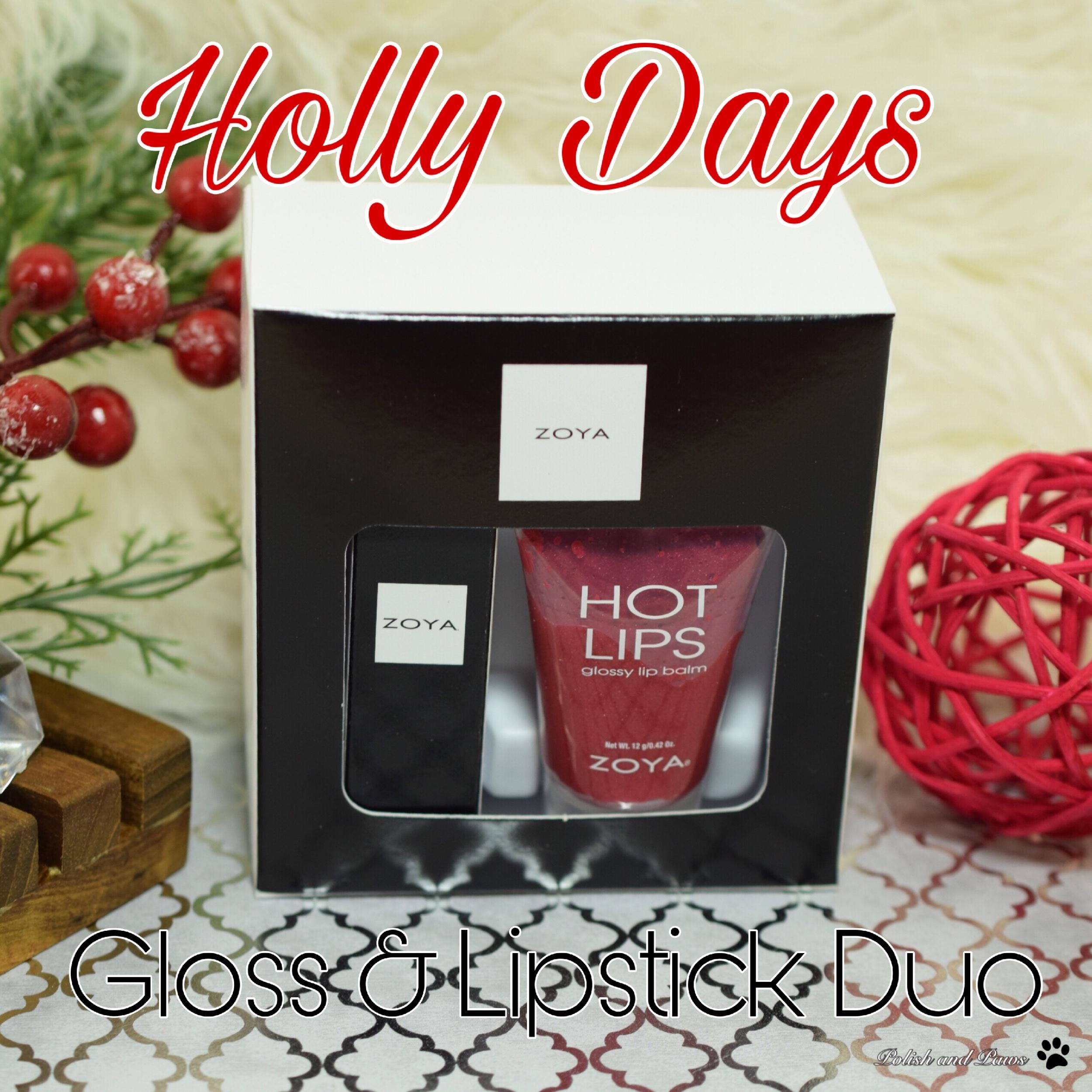 Zoya Holly Days Gloss & Lipstick Duo