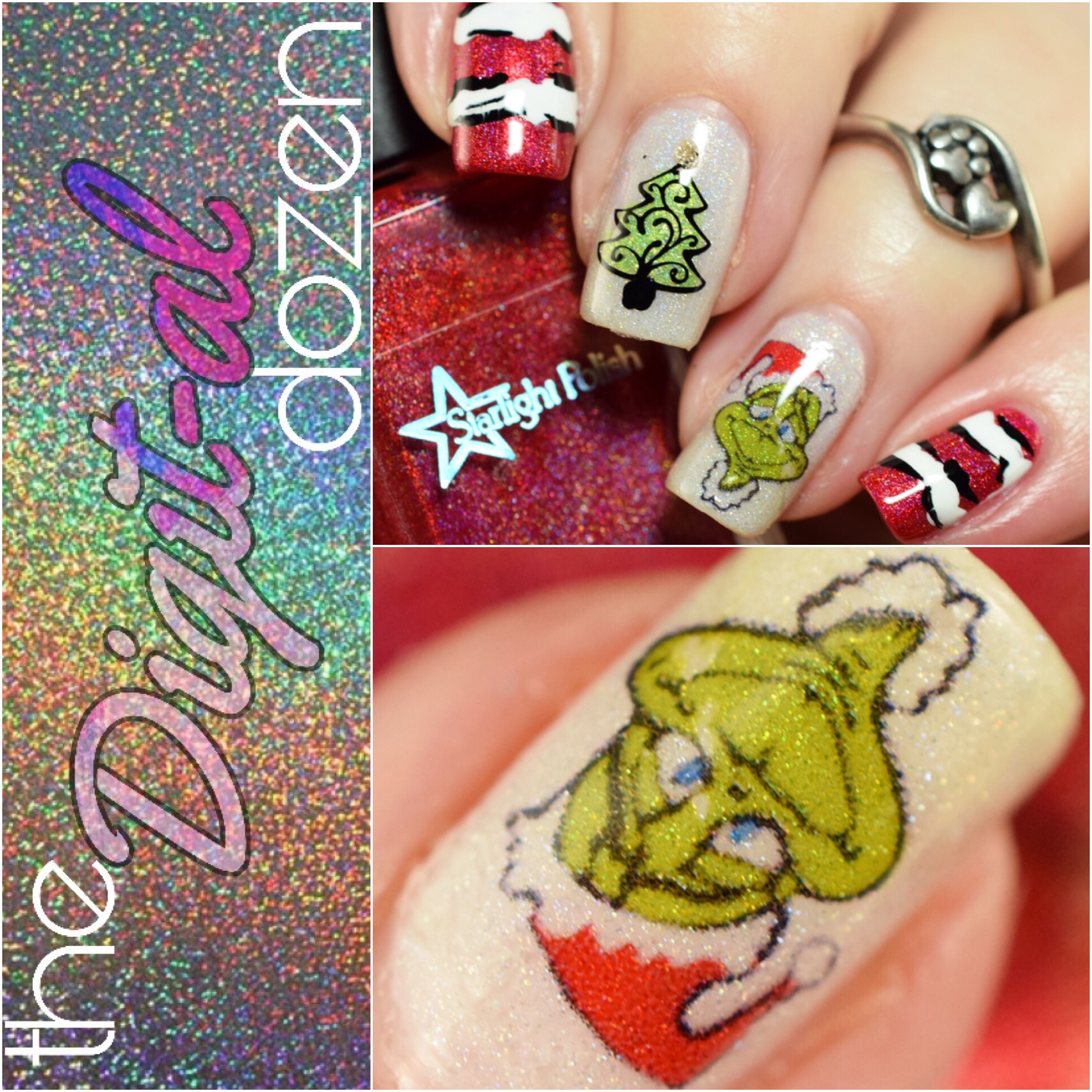 The Digit-al Dozen does Holo: Holoday Nails Day 2