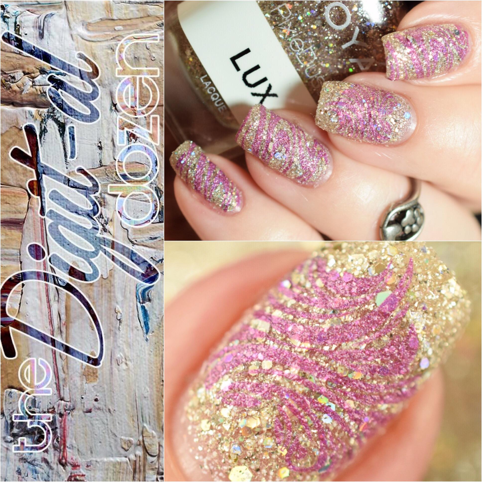 Digit-al Dozen Polish and Paws Textured Valentine's Day Nails