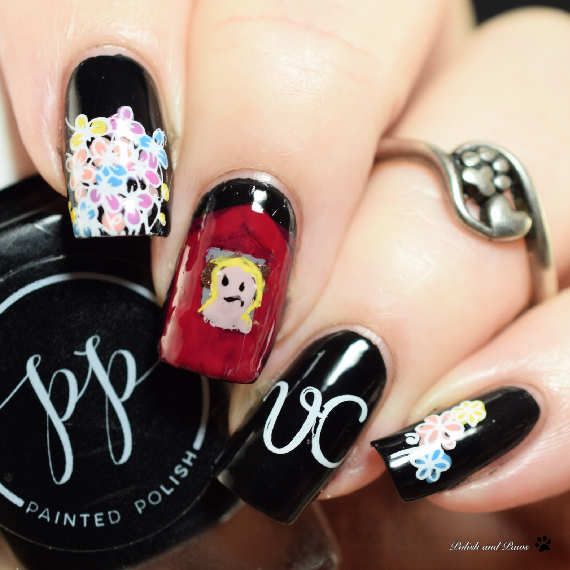 PolishandPaws Digital Dozen Flowers in the Attic book mani