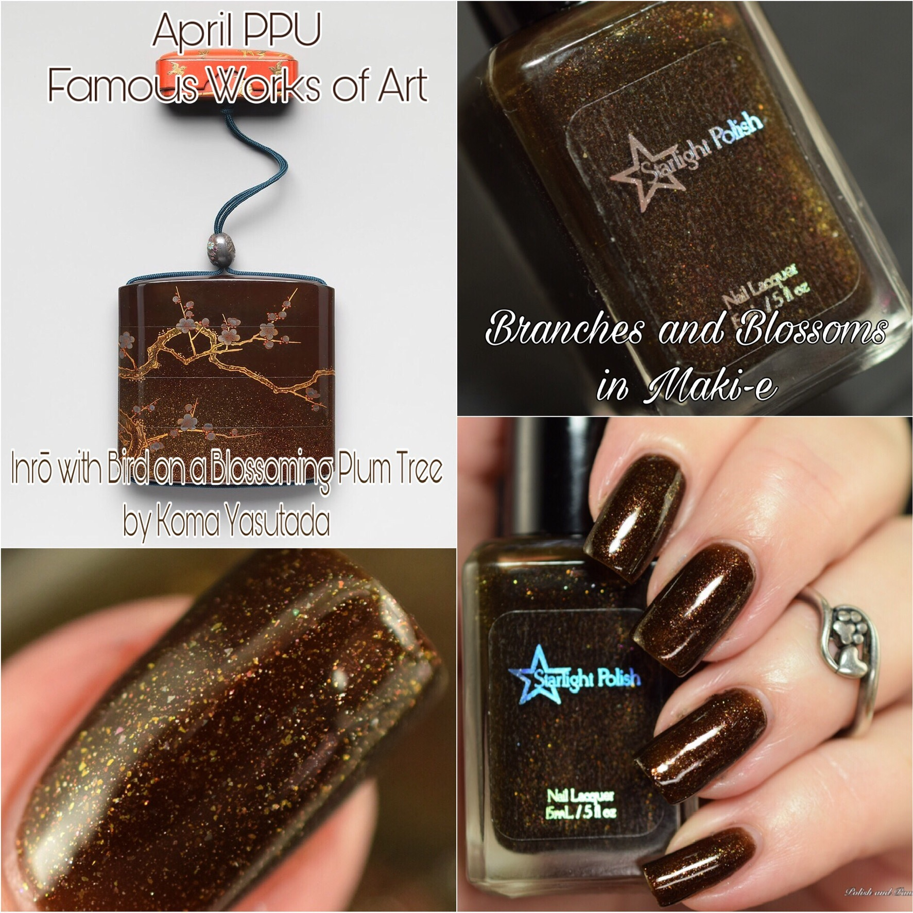 Polish Pickup ~ Starlight Polish Branches and Blossoms in Maki-e