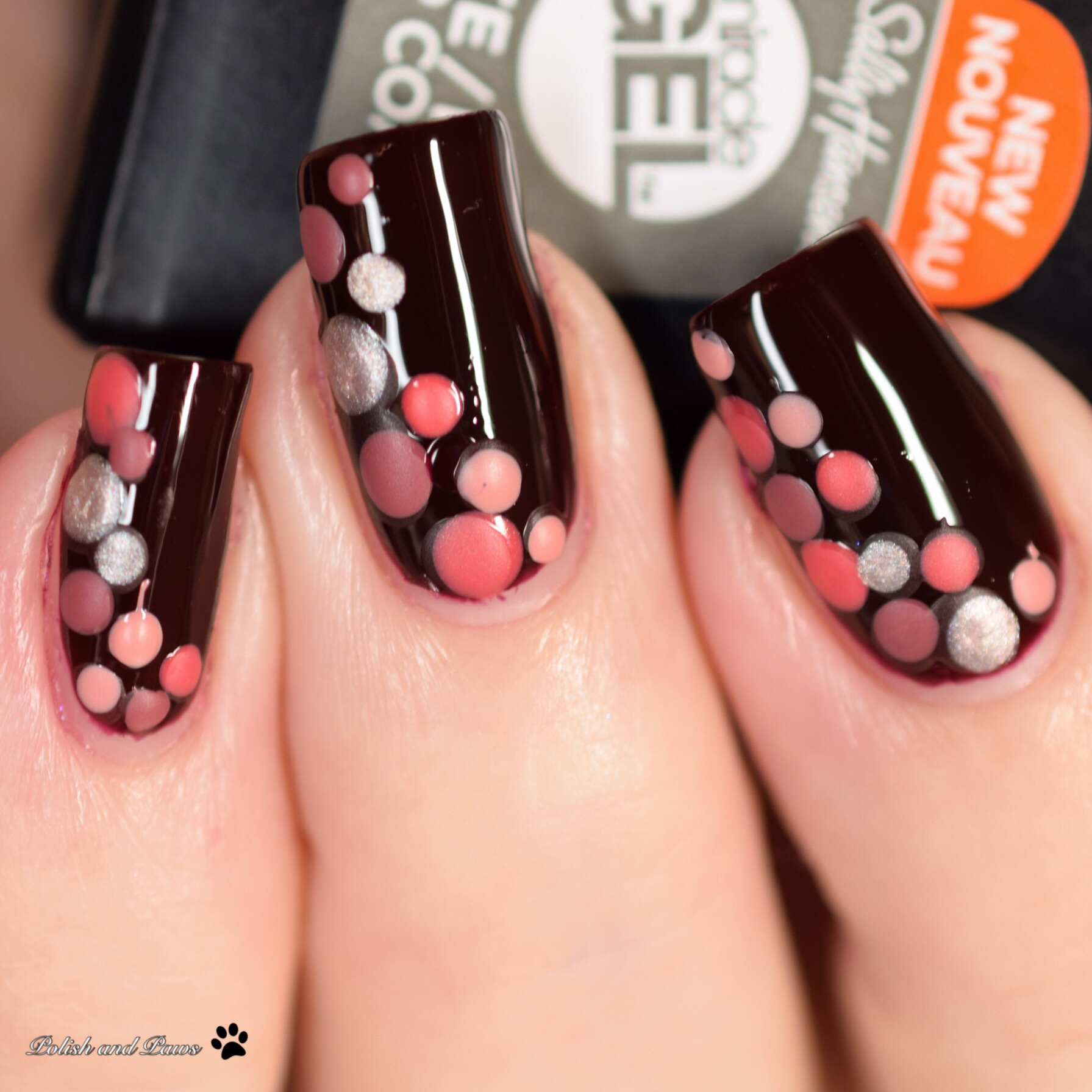 Nail Art with matte top coat