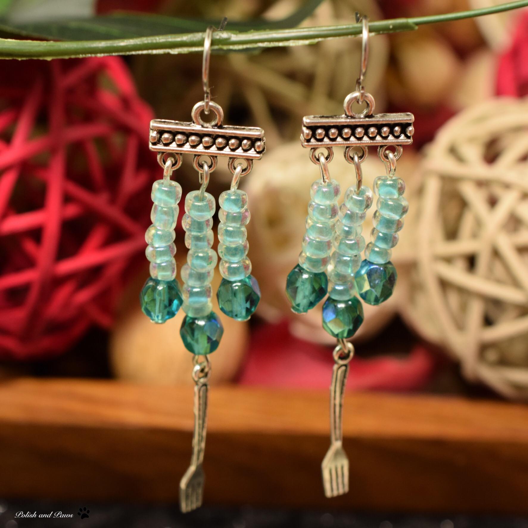 Indie Pickup ~ LynB Designs Dinglehopper Dangles Earrings