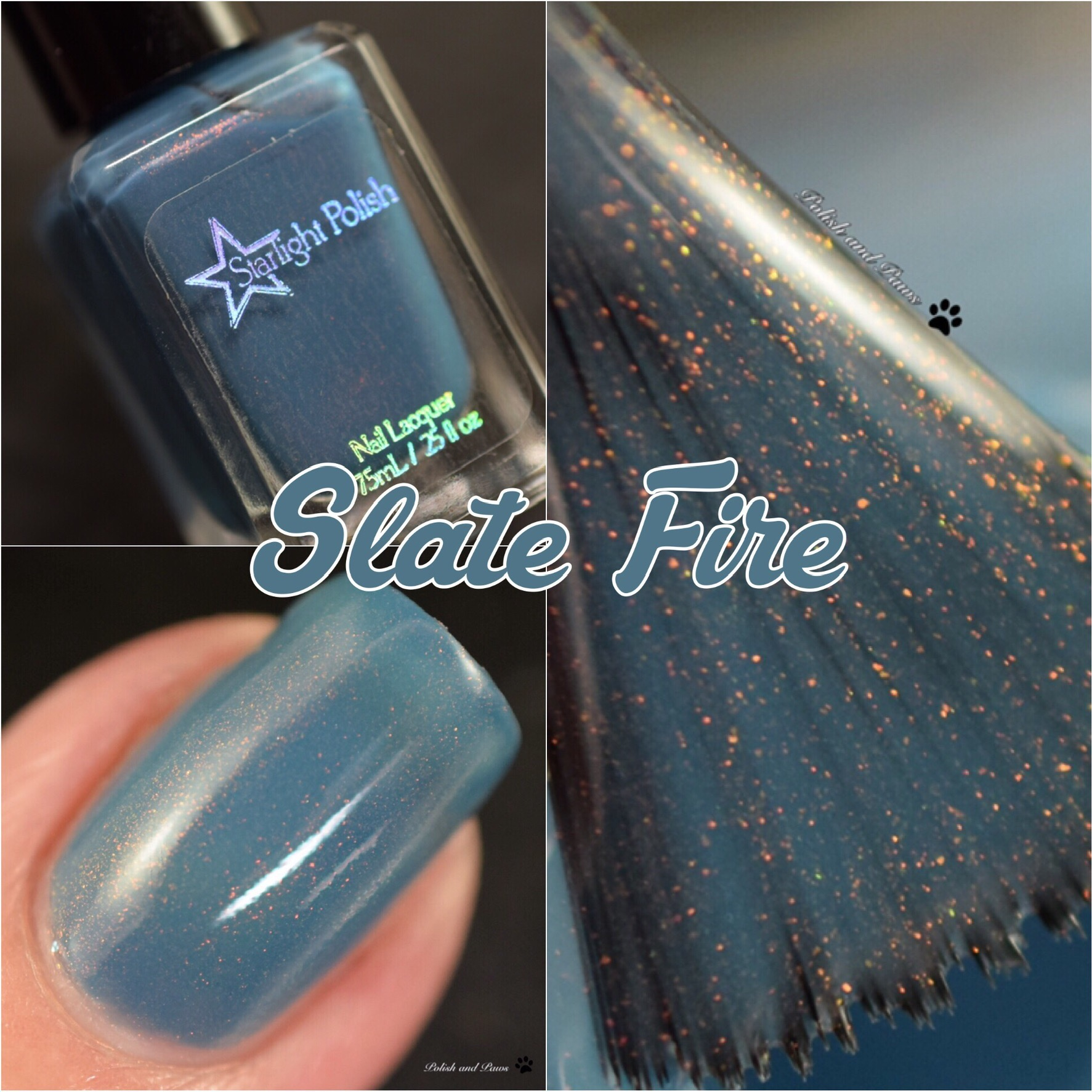 Starlight Polish Slate Fire