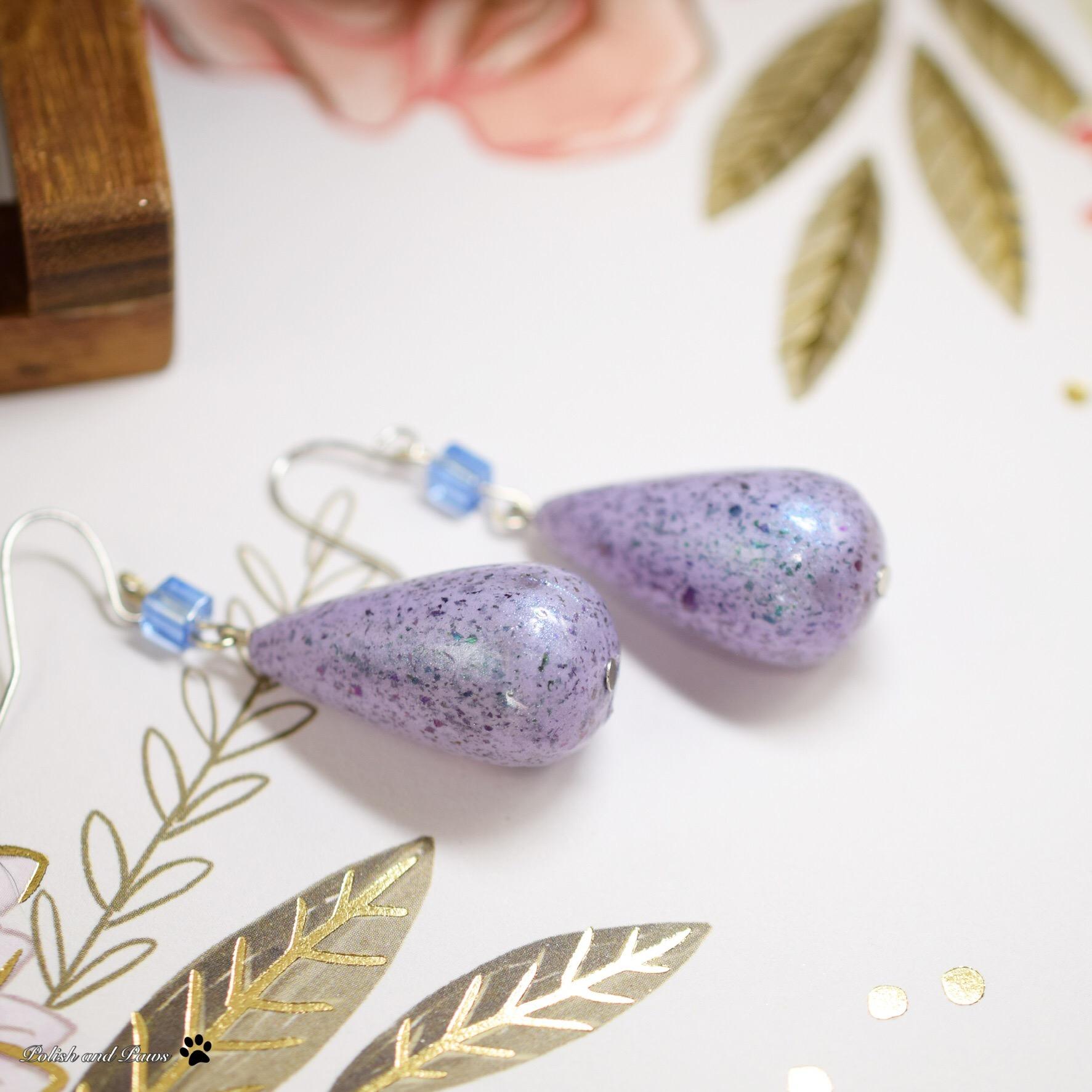 Polish/Indie Pickup ~ LynB Designs Total Monet Earrings