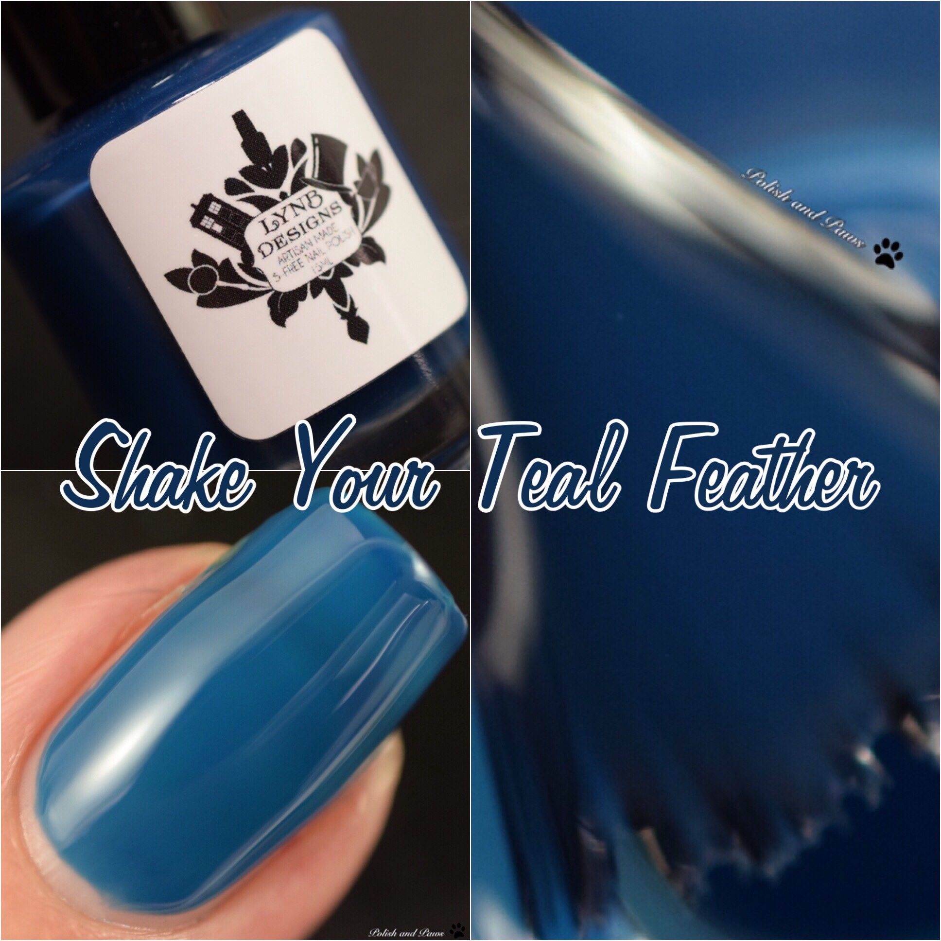 LynB Designs Shake your Teal Feather
