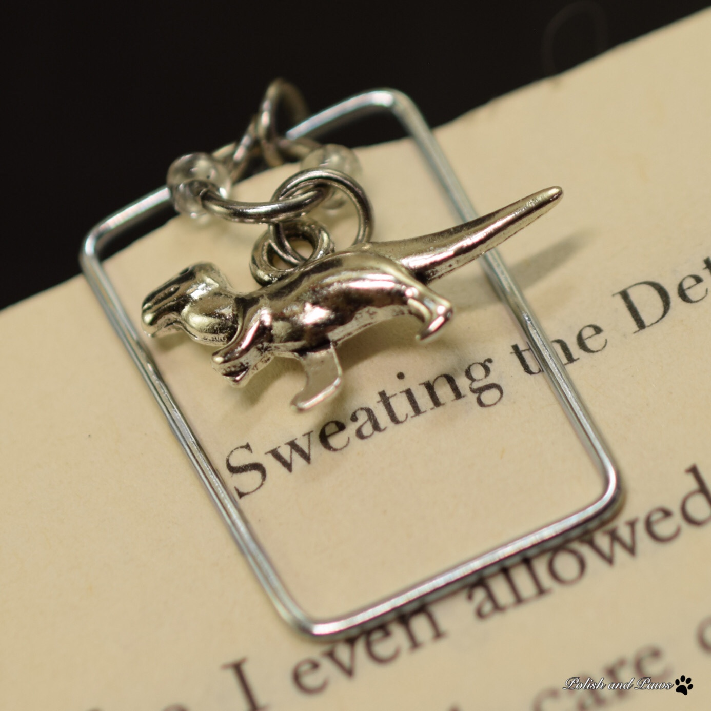 Dinosaur Charm and Page Marker Set