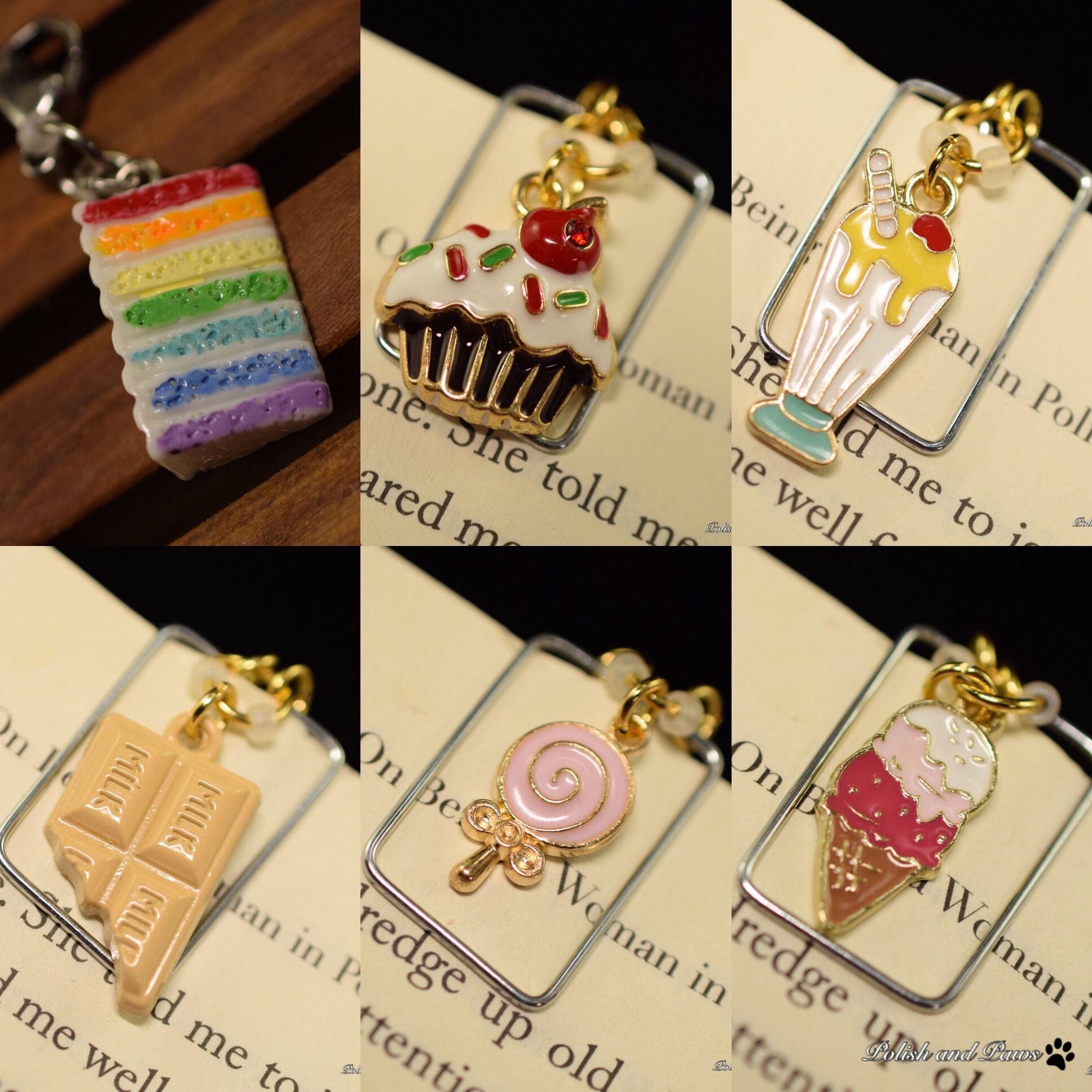 Candy Land Charm and Page Marker Set