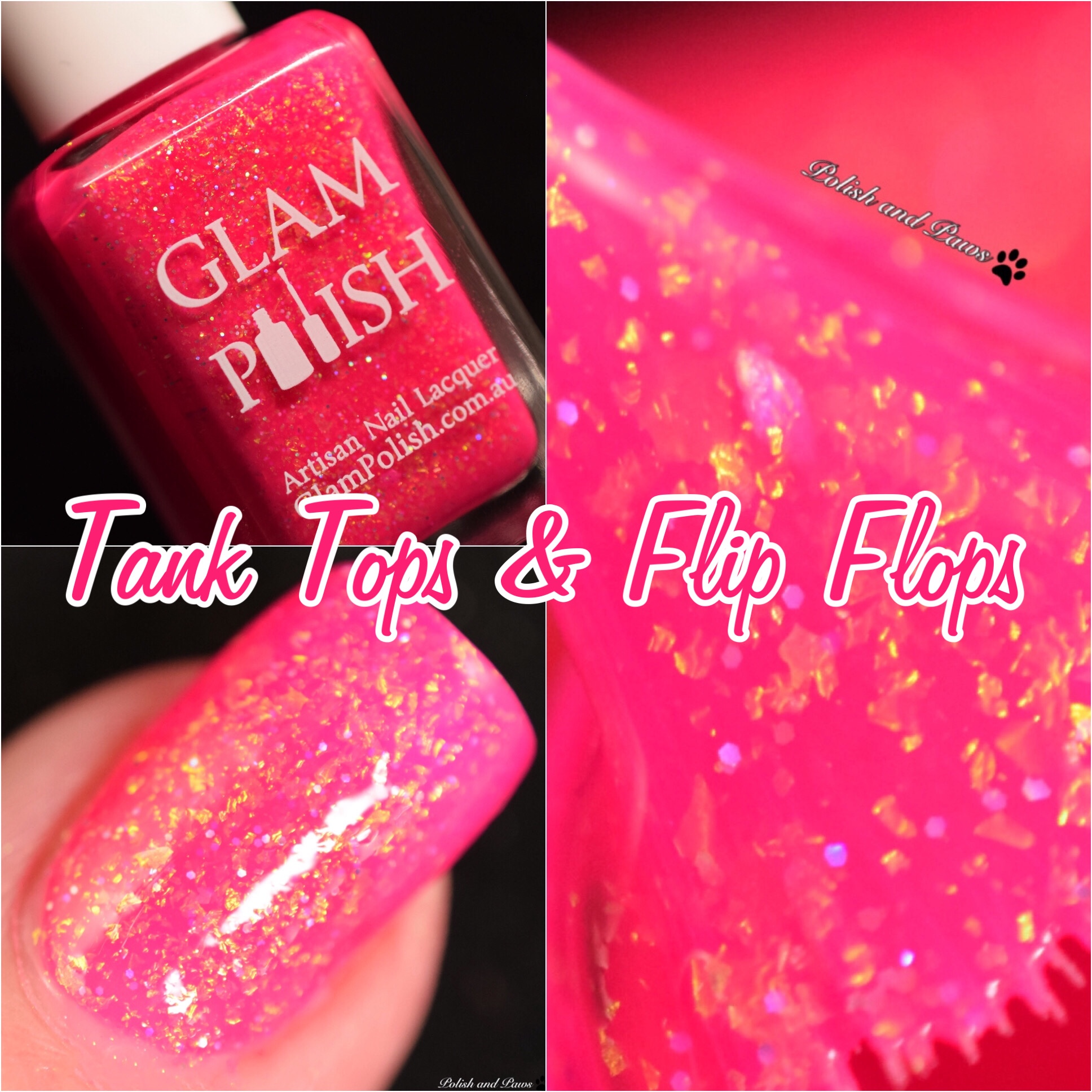 Glam Polish Tank Tops & Flip Flops